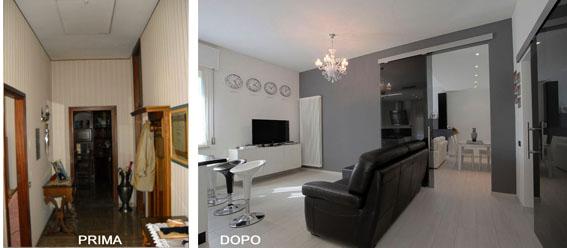 Prima e dopo i lavori massimiliano antimi architetto for Appartamenti di design milano
